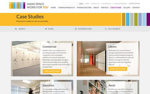 Screenshot of Case Studies Page rackline.com - Case Studies - Rackline - captured Oct. 20, 2018