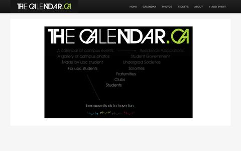 Screenshot of About Page thecalendar.ca - The Calendar - captured Sept. 30, 2014
