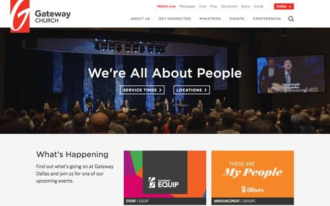 Screenshot of gatewaypeople.com - Gateway Church | We're all about people - captured Feb. 13, 2017