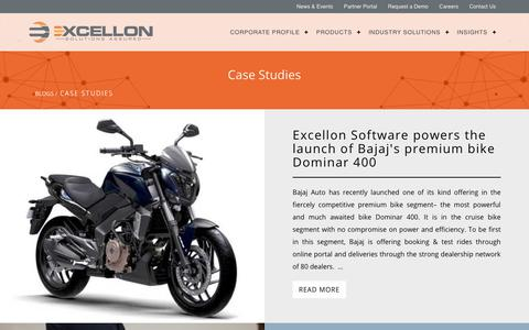 Screenshot of Case Studies Page excellonsoft.com - Case Studies | Excellon Software - captured Sept. 8, 2017