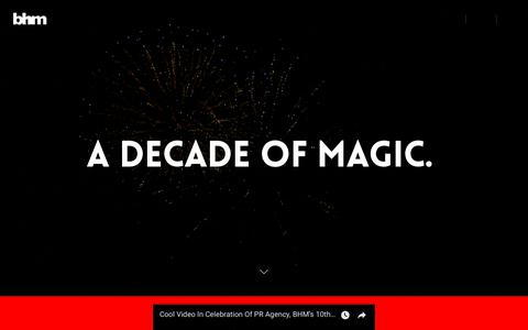 Screenshot of Home Page bhmng.com - We are 10 - BlackHouse Media (BHM) - captured Sept. 23, 2018