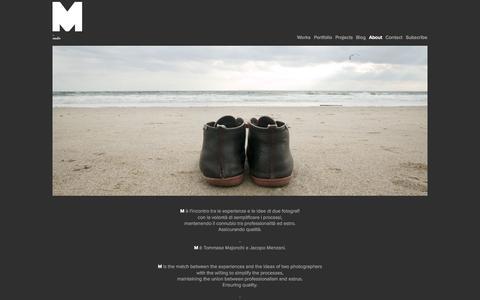 Screenshot of About Page emmestudio.info - M _ Studio Fotografico - captured Oct. 4, 2014
