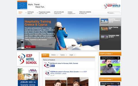 Screenshot of Home Page happysummer.ro - Work and Travel Grecia, Cipru, UK, SUA, Spania | ICEP ROMANIA - Work and Travel Grecia, Work & Travel Grecia, Work&Travel Grecia, Work and Travel Greece - captured Oct. 6, 2014