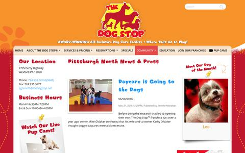 Screenshot of Press Page thedogstop.net - The Dog Stop® | - captured Oct. 16, 2017