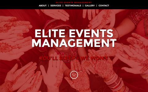 Screenshot of Home Page eem-llc.com - Elite Events Management, LLC - captured Jan. 27, 2016