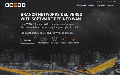 Screenshot of Home Page ocedo.com - Ocedo | Software Defined WAN & Hybrid WAN (SD-WAN) - captured Aug. 5, 2015