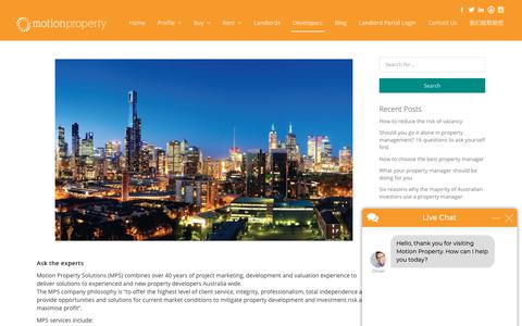 Screenshot of Developers Page motionproperty.com.au - Oliver says... - captured Oct. 20, 2018