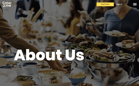 Screenshot of About Page cater2.me - About Us | Corporate Catering | Cater2.me - captured April 16, 2018