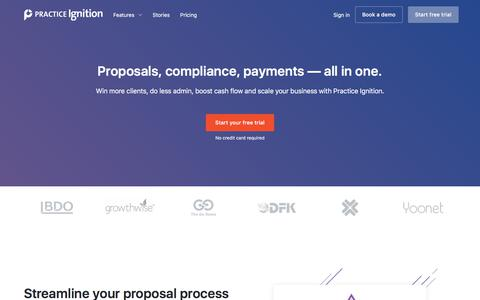 Proposal Software w/ Online Payments and Contract Management