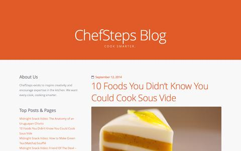 Screenshot of Blog chefsteps.com - The ChefSteps Blog - captured Sept. 19, 2014