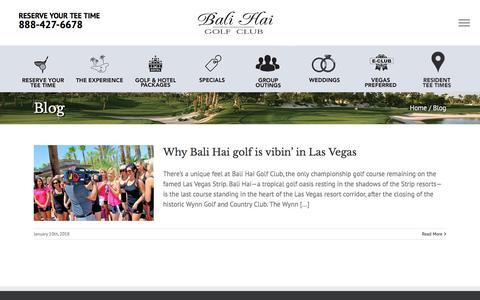 Screenshot of Blog balihaigolfclub.com - Blog - Bali Hai Golf Resort - captured July 1, 2018