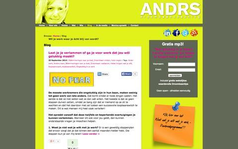 Screenshot of Blog droombaancoaching.nl - Blog - ANDRS Droombaancoaching - captured Oct. 4, 2014