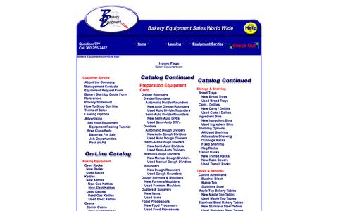 Screenshot of Site Map Page bakeryequipment.com - New And Pre-Owned Double Rack Gas Ovens For Sale | Bakery Equipment - captured Jan. 19, 2016