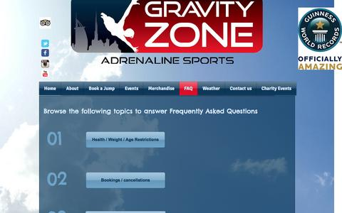 Screenshot of FAQ Page gravityzone.co - Frequent asked questions - captured Nov. 14, 2016