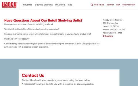 Screenshot of Contact Page handystorefixtures.com - Contact Us | Handy Store Fixtures - captured May 14, 2017