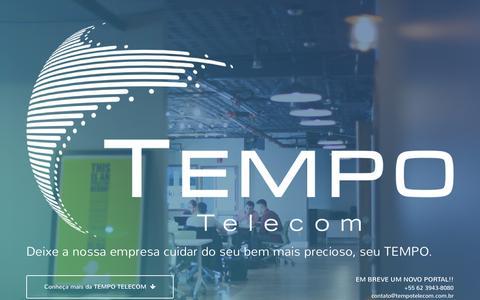 Screenshot of Home Page tempotelecom.com.br - Tempo Telecom - captured Sept. 4, 2015