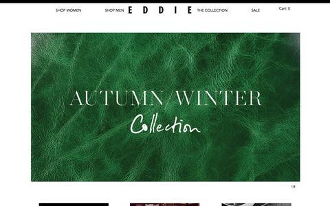 Screenshot of Home Page eddiehandmade.com - Eddie Handmade ™ - Luxury Leather Brand - captured Oct. 2, 2014
