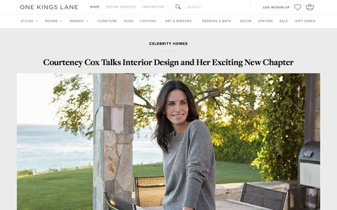 Screenshot of onekingslane.com - Courteney Cox on Interior Design and Her Home's New Chapter - captured Jan. 19, 2017