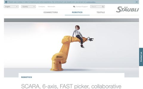 SCARA, 6-axis, FAST picker and collaborative robots / Stäubli