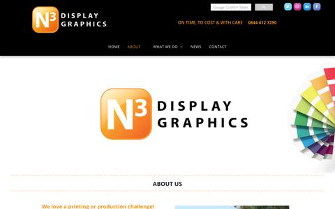 Screenshot of About Page n3display.co.uk - Exhibition Display Graphics Company About Us - captured Oct. 18, 2018