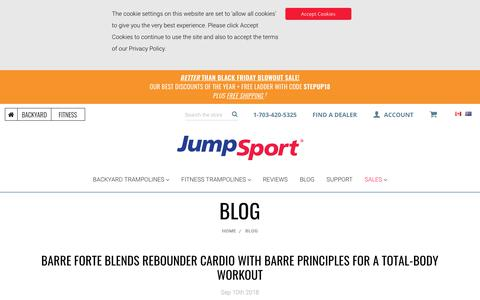 Screenshot of Press Page jumpsport.com - Blog - captured Nov. 6, 2018