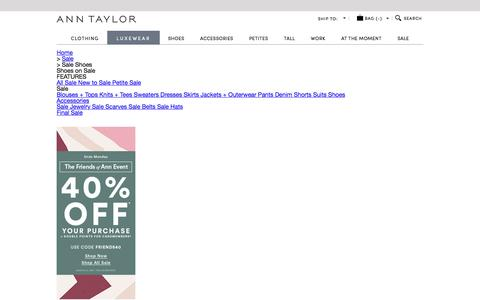 Women's Shoes on Sale - Step Into Style at a Great Price | ANN TAYLOR