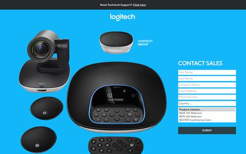 Screenshot of Landing Page logitech.com - Logitech | Contact Sales - captured Sept. 11, 2017