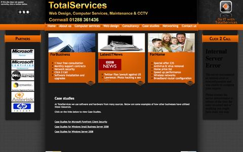 Screenshot of Case Studies Page totalservicesuk.com - Case studies - captured Oct. 7, 2014