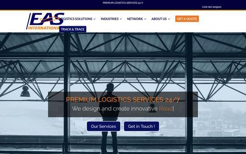 Screenshot of Home Page eas-intl.com - EAS International   Air & Sea International Logistics - captured Oct. 2, 2016