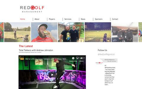 Screenshot of Home Page redgolf.co.uk - Red Golf, Golf Management, London - captured Oct. 20, 2018
