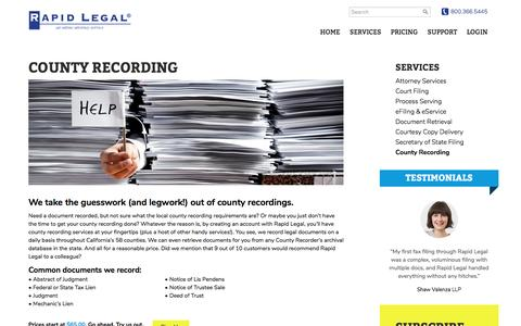 County Recordings Made Easy – Rapid Legal