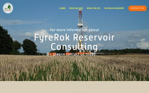 Screenshot of Contact Page fyrerok.com - FyreRok Oil and Gas Engineering and Consulting - captured Oct. 11, 2018