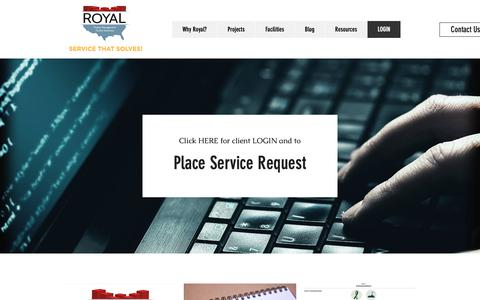 Screenshot of Login Page royalsolves.com - Integrated Facility Solutions | Royal Services - captured Oct. 20, 2018