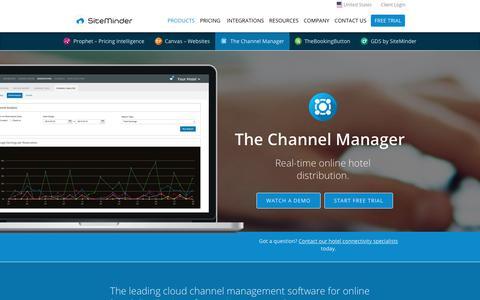 Screenshot of Products Page siteminder.com - Hotel Channel Manager & Online Distribution by SiteMinder - captured Aug. 16, 2017