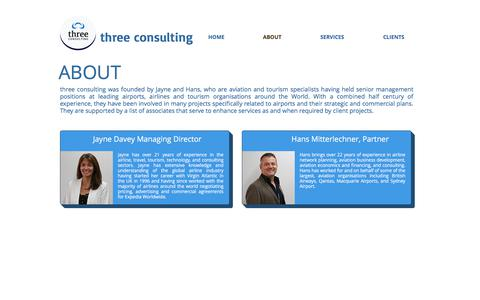 Screenshot of About Page threeconsulting.com.au - three consulting | ABOUT - captured Nov. 17, 2017