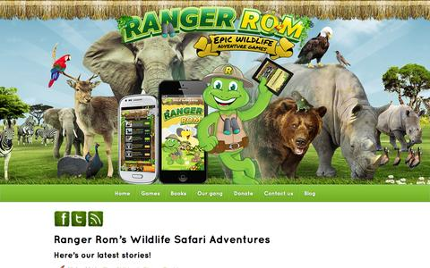 Screenshot of Blog rangerrom.com - Ranger Rom's wildlife adventures to save endangered animals - captured Oct. 9, 2014