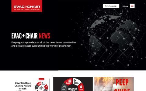 Screenshot of Press Page evacchair.co.uk - Evac+Chair News  | Evac Chair - captured Sept. 29, 2018