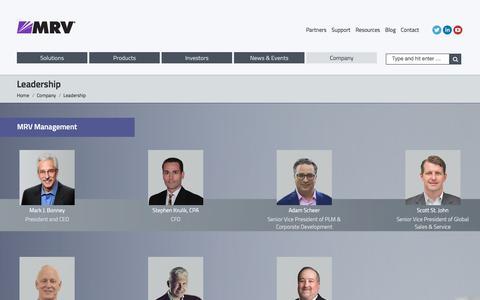 Screenshot of Team Page mrv.com - Leadership - MRV Communications – Empowering the Optical Edge - captured Nov. 16, 2016