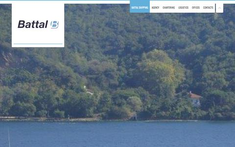 Screenshot of Home Page battalshipping.com - Battal Shipping - Maritime Transportation and Marine Services   Est. 1978Maritime Transportation and Marine Services   Est. 1978   Battal Shipping is a shipping company specializing in the agency, chartering, ship management and logistics fields sinc - captured Dec. 29, 2015
