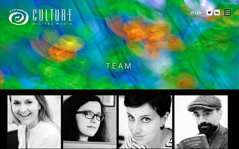 Screenshot of Team Page cultur-e.it - Archivi Team - Cultur-eCultur-e - captured Sept. 30, 2018