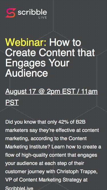 Webinar: How to Create Content that Engages Your Audience