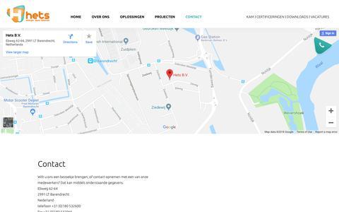 Screenshot of Contact Page hets.nl - Contact - Hets - captured Sept. 28, 2018