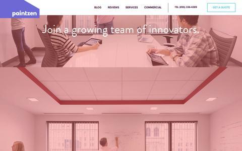 Screenshot of Jobs Page paintzen.com - Jobs | Paintzen - captured Dec. 11, 2015