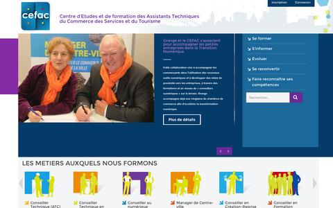 Screenshot of Home Page cefac.com - CEFAC > Accueil - captured Jan. 26, 2015