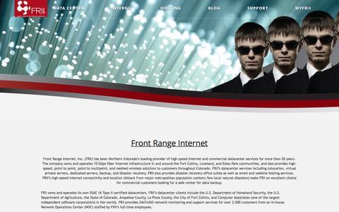 Screenshot of About Page frii.com - Front Range Internet  |  frii.com - captured Nov. 25, 2016