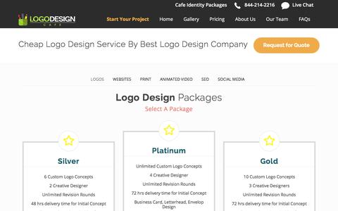 Screenshot of Pricing Page logodesigncafe.com - Cheap Logo Design Service by Best Logo Design Company - captured July 8, 2018