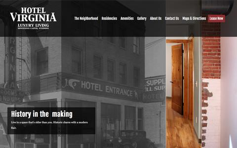 Screenshot of Home Page hotelvirginiaapartments.com - Hotel Virginia Apartments - Hotel Virginia Apartments - captured Feb. 1, 2016