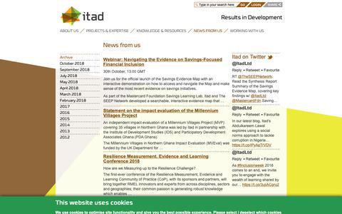 Screenshot of Press Page itad.com - News from us - Itad - captured Nov. 6, 2018