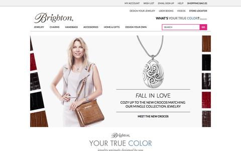 Screenshot of Home Page Menu Page brighton.com - Women's Handbags, Jewelry, Charms for Bracelets & More | Brighton Collectibles - captured Sept. 19, 2014