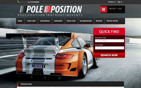 Screenshot of Home Page pptrackdays.co.uk - pptrackdays - captured Sept. 26, 2014